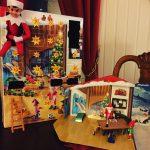 Årets julemagikalender, nissedør og elf on the shelf
