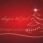 100 dagers prosjektet, det er 100 dager til jul.